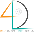 4th Dimension Leaders Logo. Great leaders. Great schools.